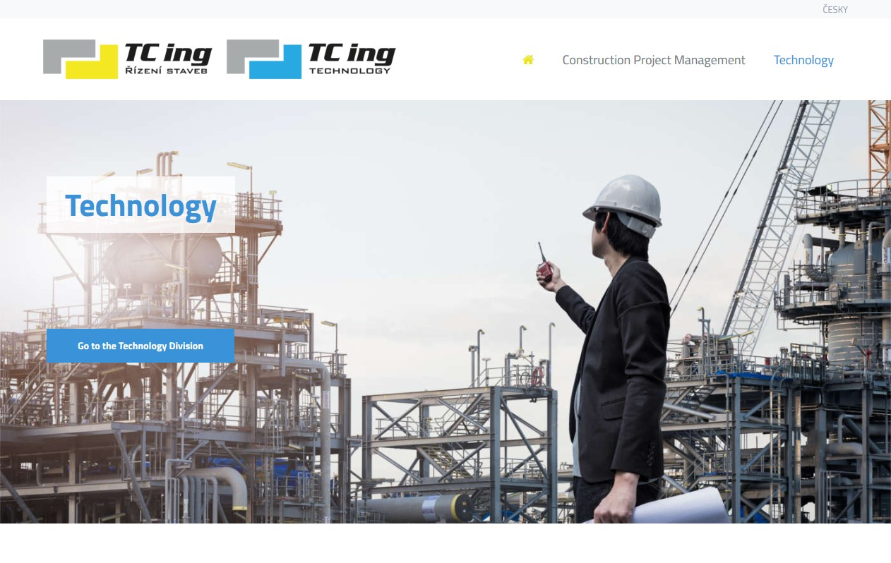 TC ing s.r.o website screenshot