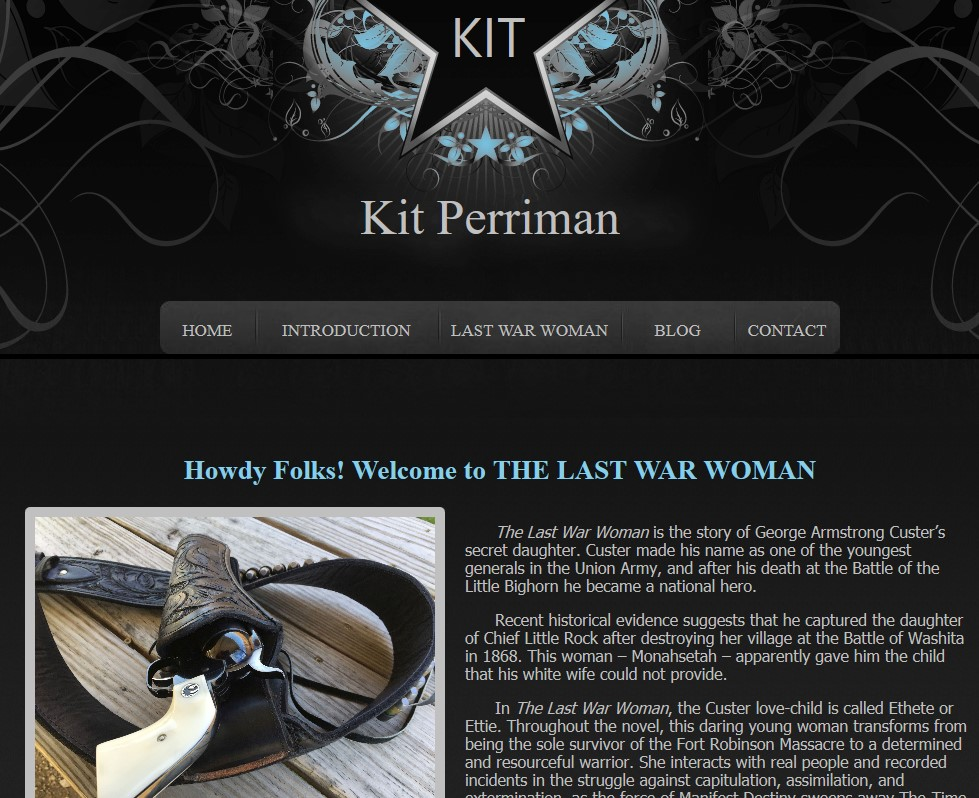 The Last War Woman website screenshot